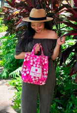 Everyday Hawaii Everyday HI Small Tote Hibiscus Pink