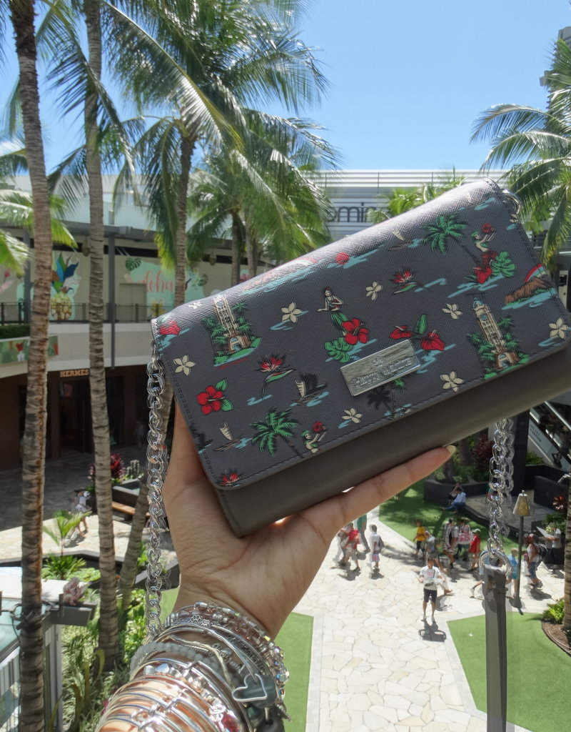 Happy Wahine Crossbody Amanda Waikiki Grey