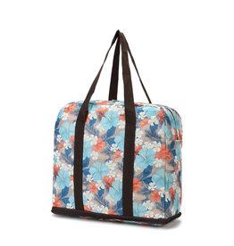 Everyday Hawaii Foldable Duffle Bag Sophie Hibiscus Grey