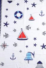 Everyday Hawaii Scarf Danielle Print Nautical White