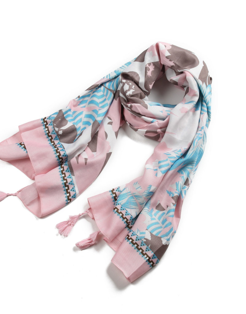 Everyday Hawaii Scarf Danielle Print Pastel Floral