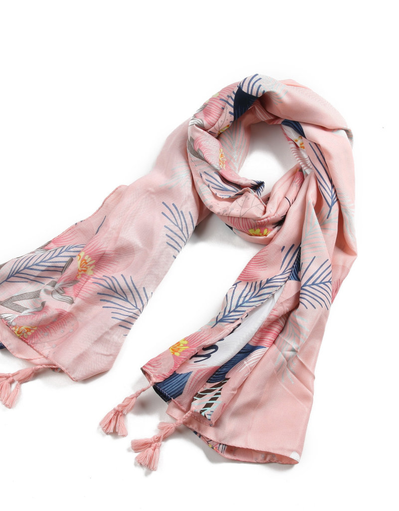 Everyday Hawaii Scarf Danielle Print Pink Floral
