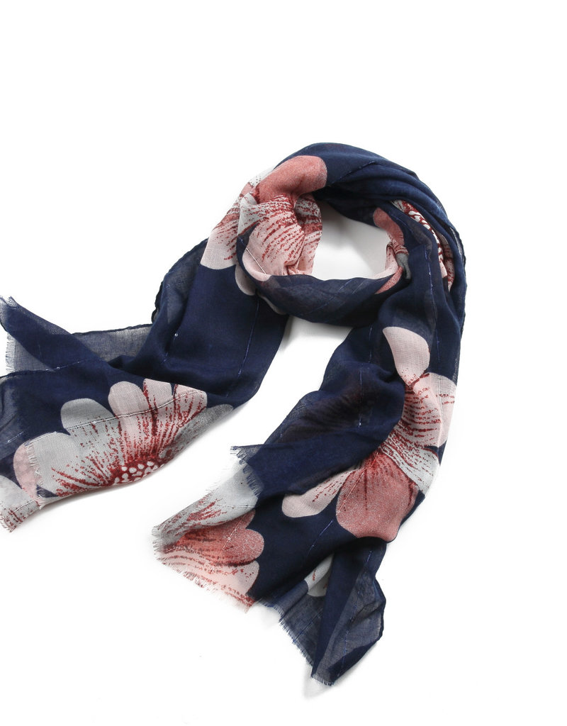 Everyday Hawaii Scarf Danielle Print Floral Pink