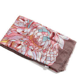 Everyday Hawaii Scarf Danielle Print Sunflower Pink