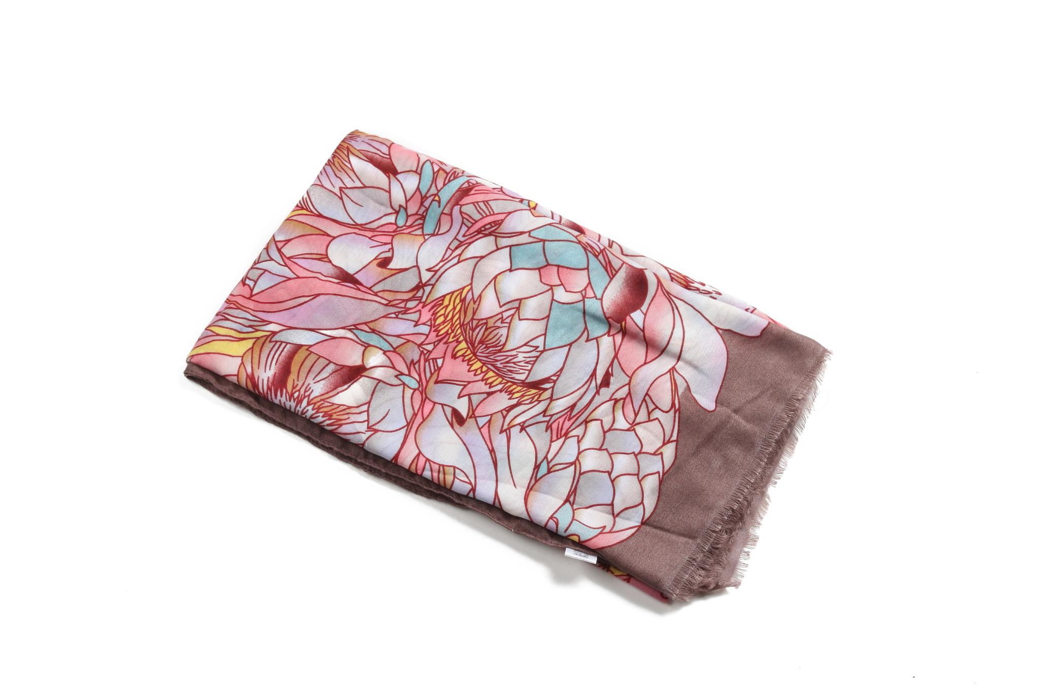 Passport holder Pink white Hawaiian flower print