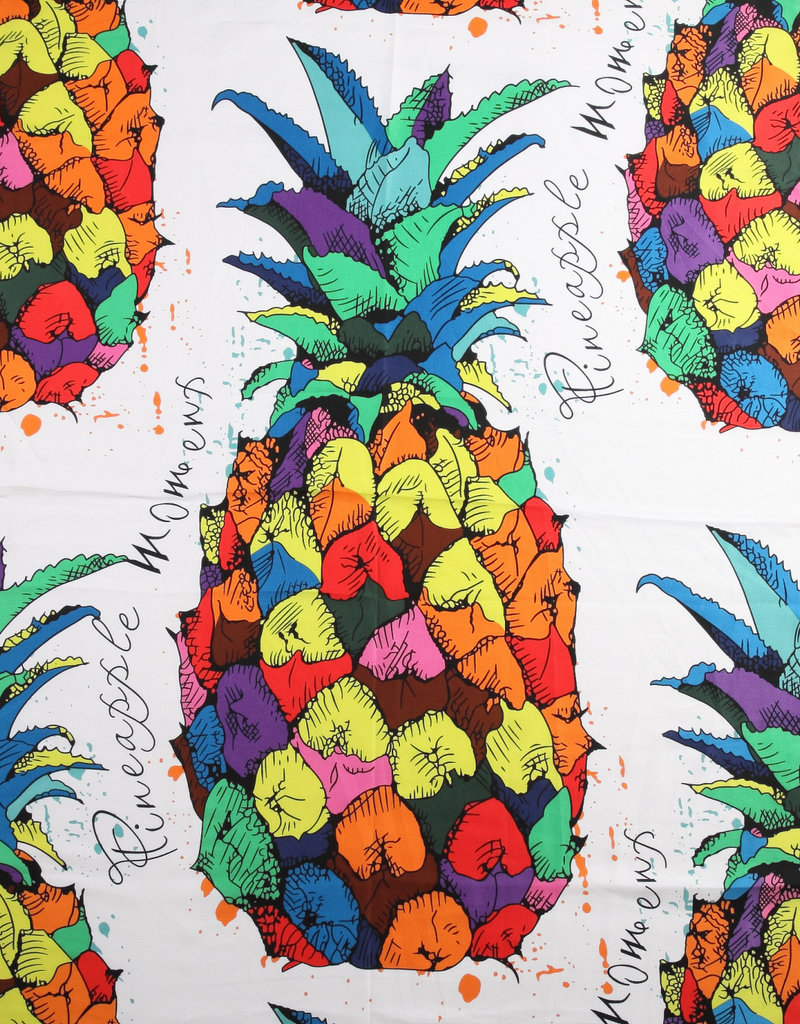 Everyday Hawaii Scarf Danielle Print Rainbow Pineapple