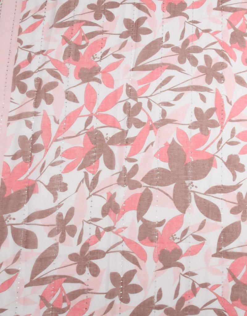 Everyday Hawaii Scarf Danielle Print Leaves Pink