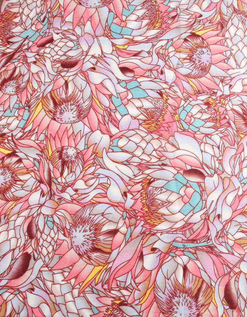 Everyday Hawaii Scarf Danielle Print Sunflower Pink