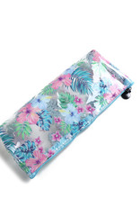 Everyday Hawaii EH Clear Pencil Case Monstera Blue