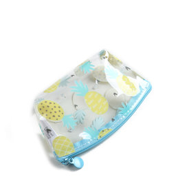 Everyday Hawaii EH Clear Coin Case Pinepple Yellow