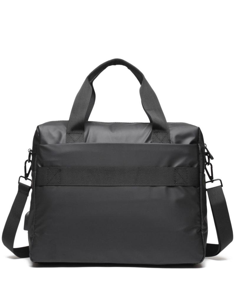 Ho'omau Ho'omau Computer Bag Tapa Tiare Black