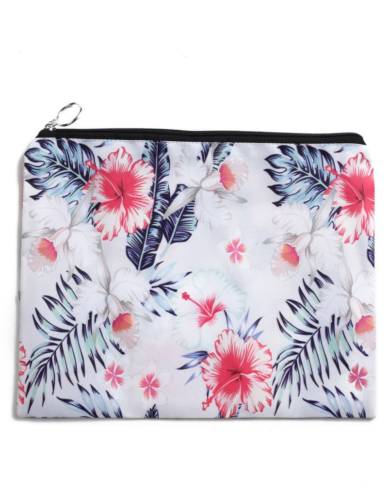 Everyday Hawaii EH Pouch Set Hibiscus Beige