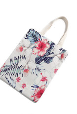 Everyday Hawaii EH Cotton Tote Sml Hibiscus Beige