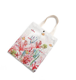 Everyday Hawaii EH Cotton Tote Sml Coral Beige