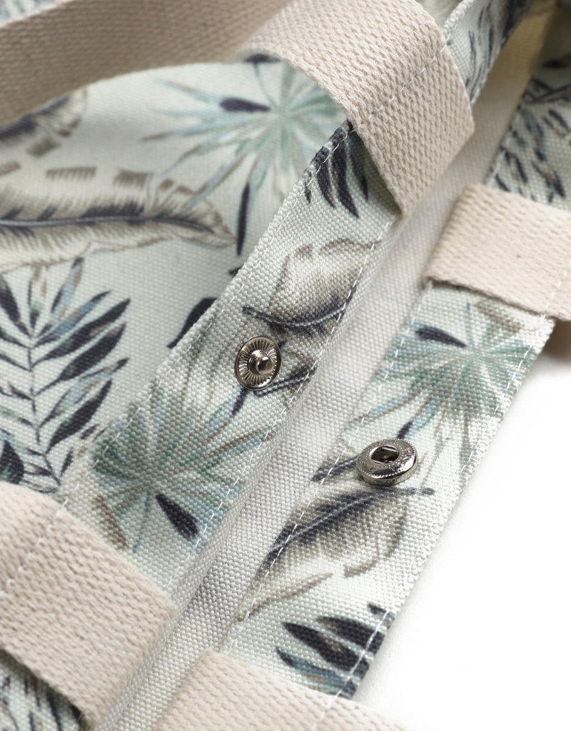 Everyday Hawaii EH Cotton Tote Sml Monstera Teal