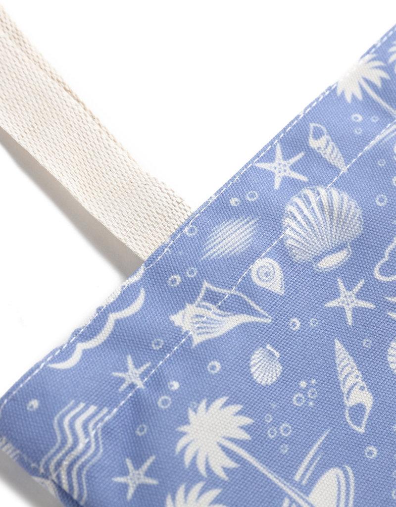 Everyday Hawaii EH Cotton Tote Lrg Ocean Blue