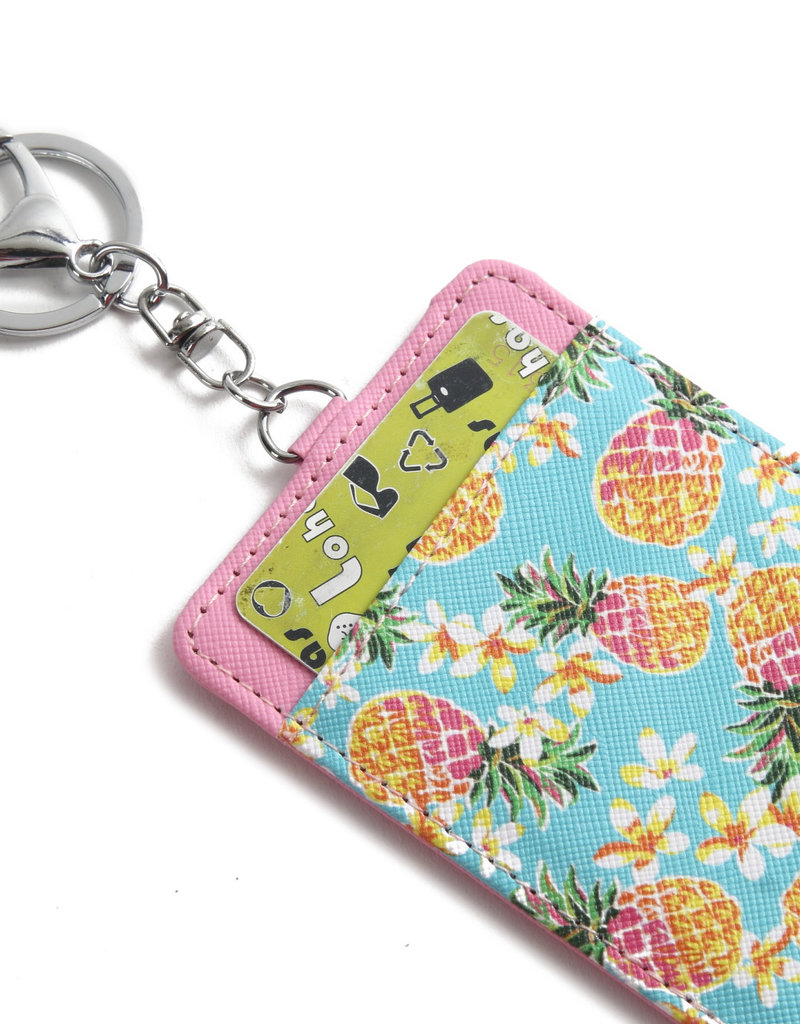 Happy Wahine Card Case April Pineapple Pink