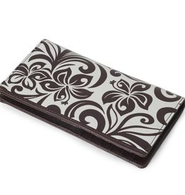 Happy Wahine Wallet Hibiscus RFID Slim Brown