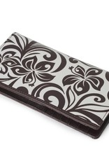 Wallet Hibiscus RFID Slim Brown