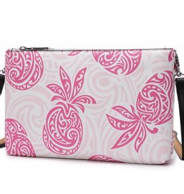 Happy Wahine Crossbody Marisa Tapa Pineapple Pink