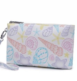 Happy Wahine Wristlet Melody Shells Orange