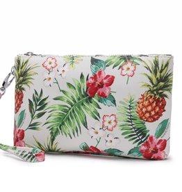 Happy Wahine Wristlet Melody Pineapple Vintage Beige