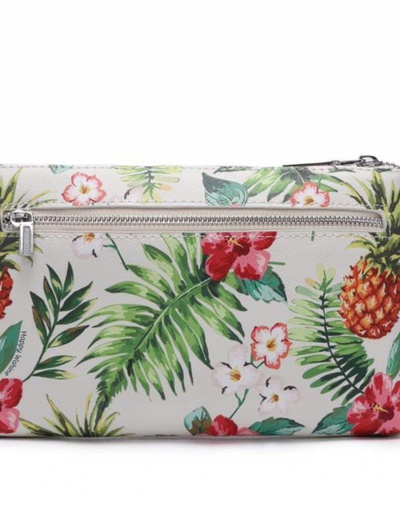 Happy Wahine Wristlet Melody Pineapple Vintage Beige