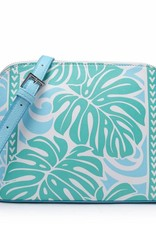 Happy Wahine Crossbody Lori Monstera Blue