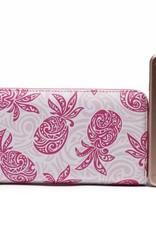 Happy Wahine Wallet Kaylee Tapa Pineapple Pink