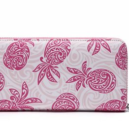 Happy Wahine Wallet Kaylee Tapa Pineapple Pink