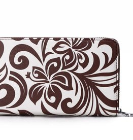 Happy Wahine Wallet Chloe Hibiscus Brown