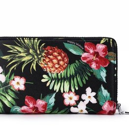 Happy Wahine Wallet Chloe Pineapple Vintage Black