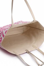 Reversible Tote Nancy Hibiscus Pink Large