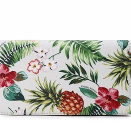 Happy Wahine Wallet Teyla Pineapple Vintage Beige