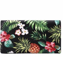 Happy Wahine Wallet Teyla Pineapple Vintage Black