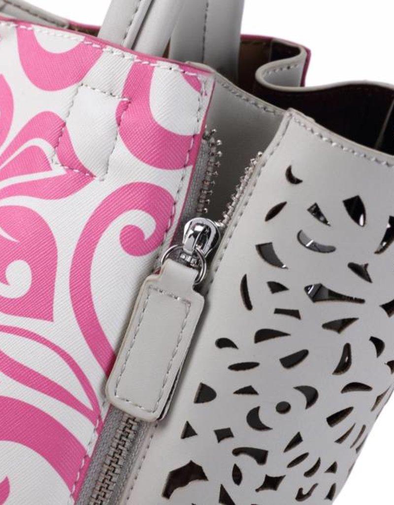 Handbag Amy Hibiscus Pink Large