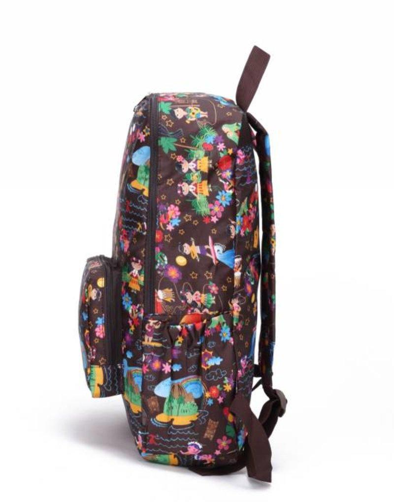 Nylon Backpack Song Luau Brown