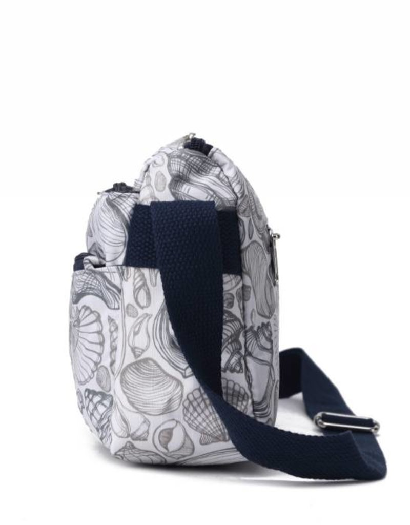 Nylon Kayla Crossbody Seashell Grey