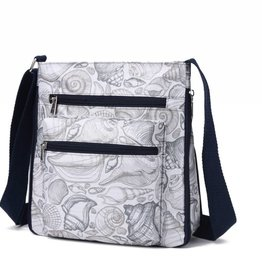 Nylon Deanna Crossbody Seashell Grey