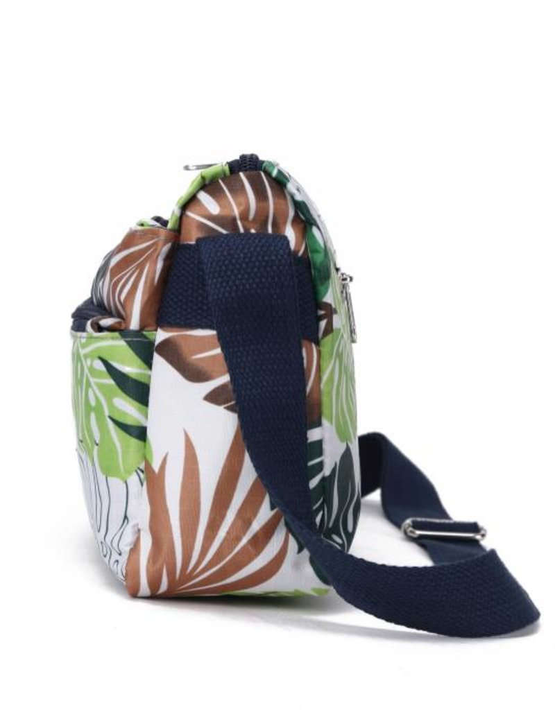 Nylon Kayla Crossbody Monstera White