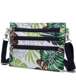 Nylon Jonelle Crossbody Monstera White