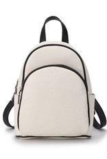 Happy Wahine Backpack Lucy Hibiscus Embossed Beige