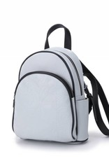 Happy Wahine Backpack Lucy Tapa Tiare Embossed Grey