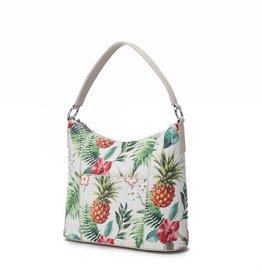 Happy Wahine Hobo Bag Sara Vintage Pineapple Beige