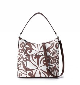 Happy Wahine Hobo Bag Sara Tapa Tiare Brown