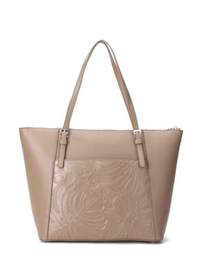Happy Wahine Tote Elizabeth Monstera Orchid Sand