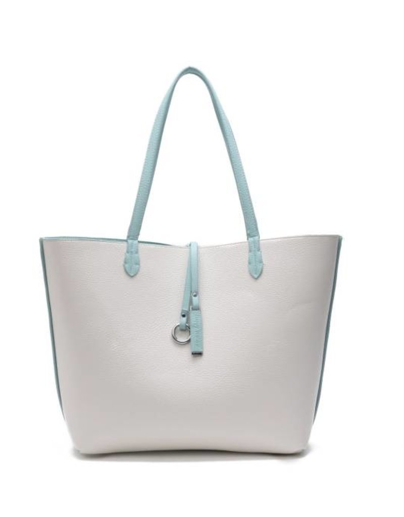 Rev Bag Emily Aqua/Ivory Large
