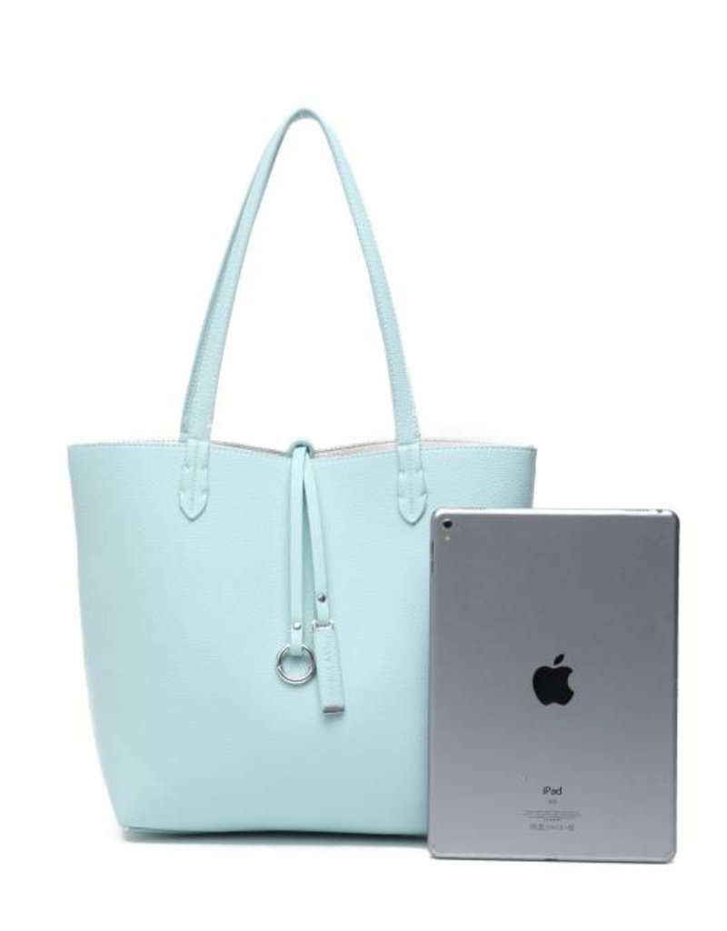 Rev Bag Emily Aqua/Ivory Small