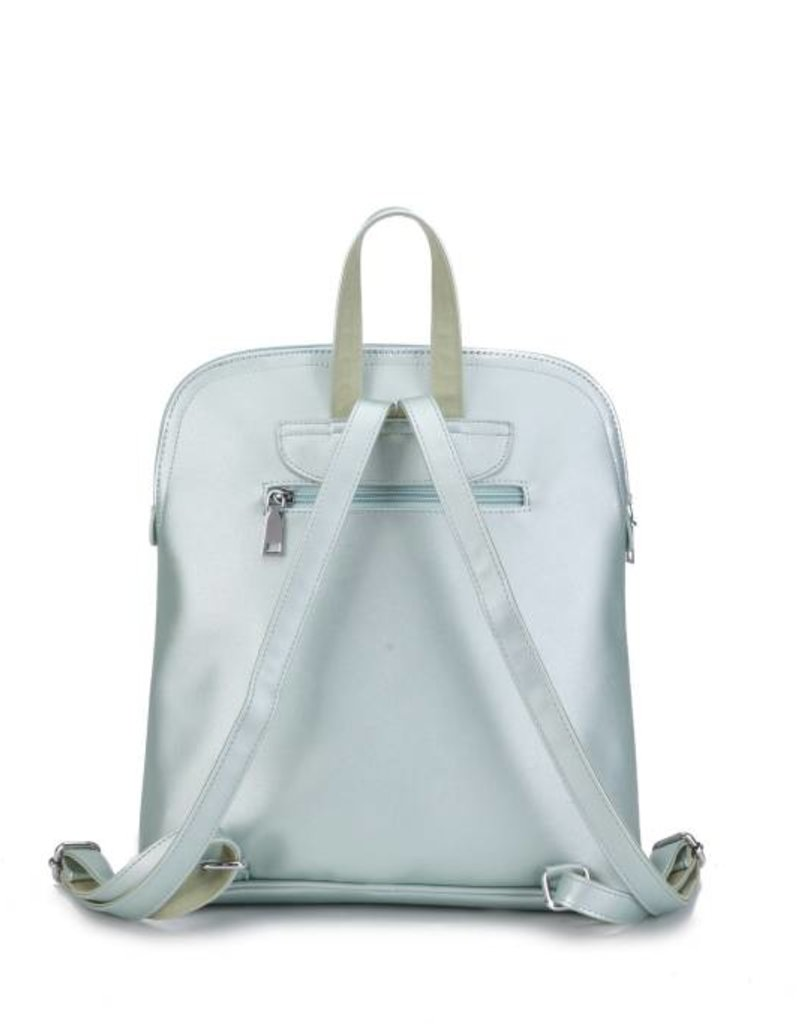 Happy Wahine Backpack Sasha Monstera Orchid Green