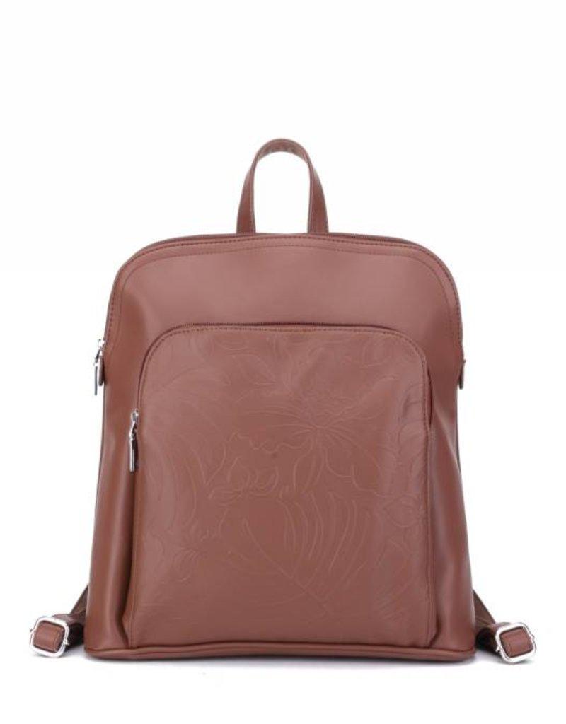 Backpack Sasha Monstera Orchid Brown